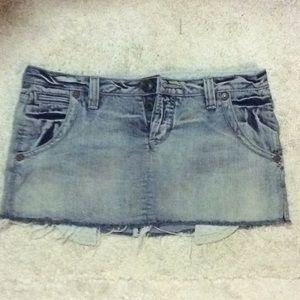 Guess premium jean mini skirt size 30